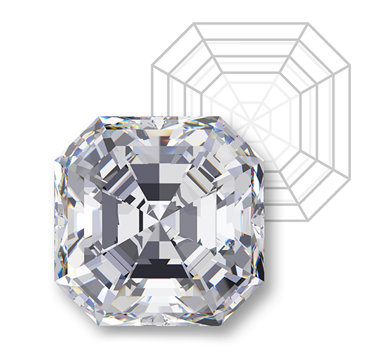 Milwaukee jeweler asscher diamond rings