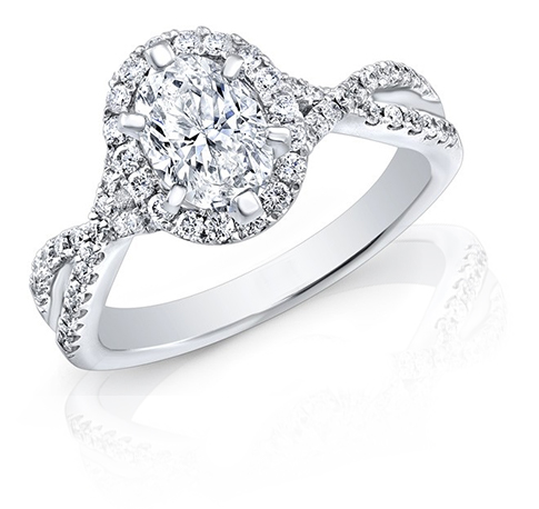 Halo engagement rings from the best Milwaukee jeweler