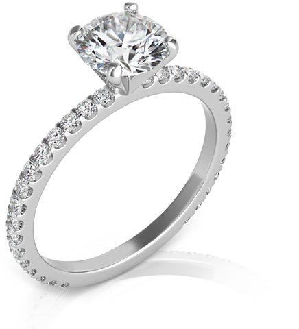 Side stone diamond ring styles in Milwaukee