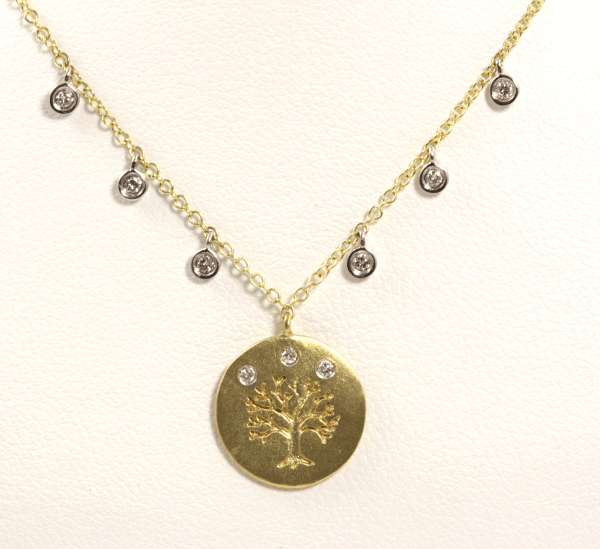 Yellow Gold Tree of Life Necklace