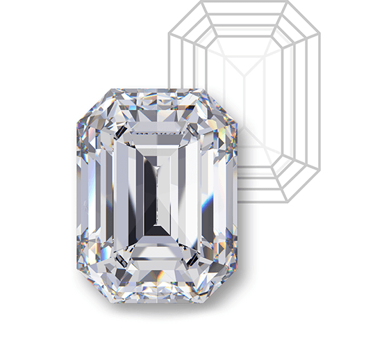 Emerald cut engagement rings from Milwaukee jeweler