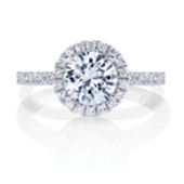Milwuakee Jewelry Designer Halo cut engagement rings