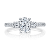 Side stone engagement rings from Milwaukee Jeweler