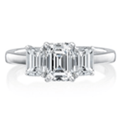 Affordable three stone engagement rings in Milwaukee
